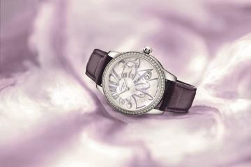 格拉苏蒂原创全新PanoMatic Luna 偏心月相女士腕表情人节特别款