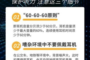 耳机党注意了保护听力请牢记60-60-60原则